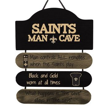 New Orleans Saints Sign Wood Man Cave Design