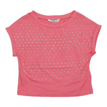 Mayoral Big Girls' Coral Studded Crop Top
