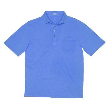Garment Dyed Original 4-Button Polo in Neon Blue by Johnnie-O
