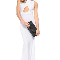 Diva in White Mermaid Maxi Dress