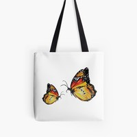 'Yellow Butterflies ' Tote Bag by Manitarka