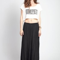 DIMEPIECE LOGO CROP TOP CREAM: DIMEPIECE DESIGNS STORE