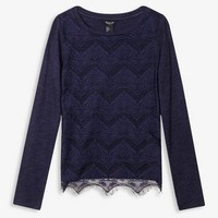 Scalloped Lace Overlay Top (Kids)