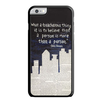 John Green Paper Towns Quotes Cover iPhone 6 Plus Case