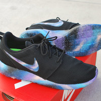 Custom Hand Painted Galaxy Roshe Run