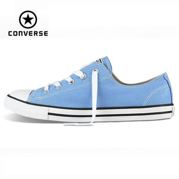 Original Converse Chuck Taylor All Star Dainty sneakers women low powderblue canvas shoes for women Skateboarding free shipping