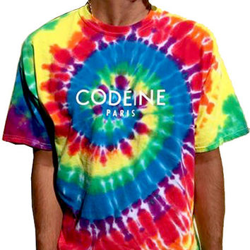 The Mouth Fulla Gold CODEINE PARIS Tee (Multi Tie Dye)