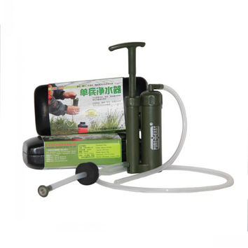 Portable Mini Soldier Camping Pump Water Filter Purifier Earthquake Emergency Facility