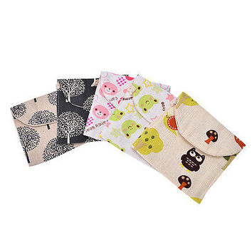 New! Women Girl Cute Sanitary Napkin Towel Pads Small Bag Purse Holder Organizer