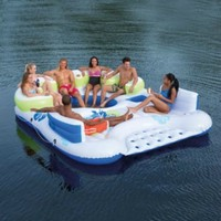 River Floats 7Person Floating Huge Island Boat Puncture Resistant Lake Water Fun