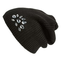 Junior Women's Lulu Crystal Knit Beanie