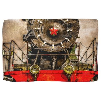 Vintage Steam Train - Back From The Farness Hand Towel