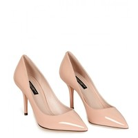 Dolce & Gabbana Pale Pink Patent Leather Pointed Toe Pumps