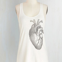Quirky Mid-length Tank top (2 thick straps) Muscle and Flow Top by ModCloth