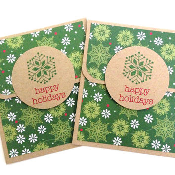Holiday Gift Card Holder - Christmas Gift Card Holder - Happy Holidays Gift Card - Money Card Holder - Snowflake Gift Card - Coworker Gift