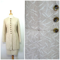 Jacket and Skirt Set 2 Piece Neutral Beige Harve Benard By Benard Holtzman Women size 16 L/XL