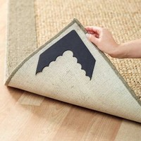 4 Pc Rug Corner Grippers Keep Rugs From Sliding Keeps Rug Flat - Kitchen Hallway