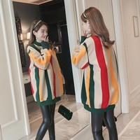 New Korean fashion maternity clothes new winter tops shirts plus gold velvet sweater