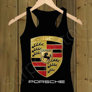 Porsche logo Black _ Tank Top S,M,L,XL,XXL Tshirt Design By : surprisesold