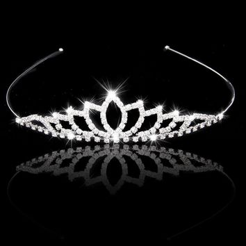 FS Hot Wedding Women Girl Rhinestone Headband Head Crown Princess Jewelry