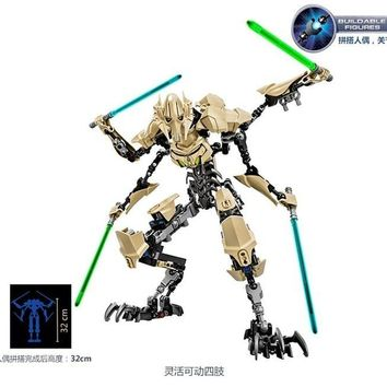 Star Wars Force Episode 1 2 3 4 5 32cm  blocks 7 General Grievous with Lightsaber Figure toys building blocks compatible with lego  AT_72_6