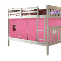 Aurora White Bunk Bed for Girls with Tent