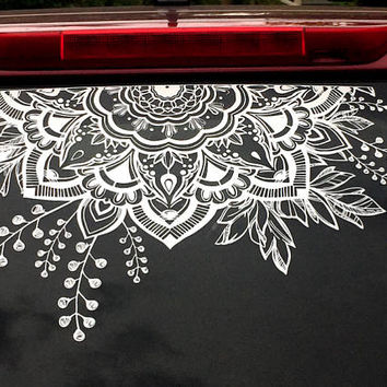 Mandala car decal vinyl sticker decals car decal sticker boho