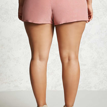 Plus Size Corduroy Shorts