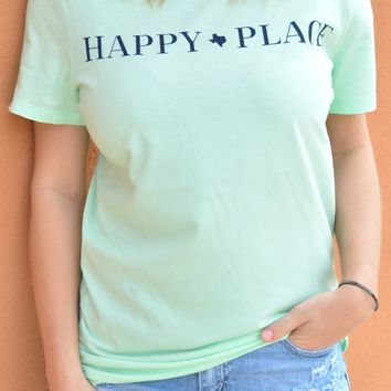 Happy Place Tee - Mint