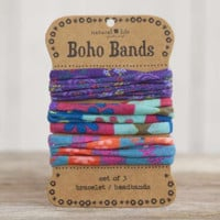 Boho Bands - Purple, Aqua & Multi