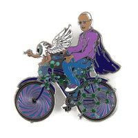BICYCLE DAY Albert Hoffman Inspired Enamel Pin 101/111 STFO Double Posted Trippy lsd hat pin