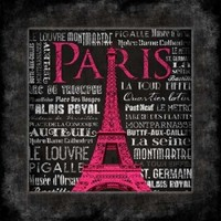Paris Type bordered Poster Print by Jace Grey (12 x 12) - Walmart.com