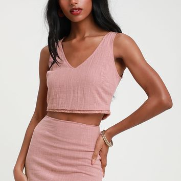 Beautiful You Mauve Pink Two-Piece Dress