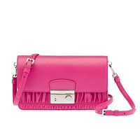 Prada Women's Nappa Leather Gaufre Crossbody Handbag BT1034 Pink