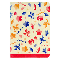 Scandinavian Flowers Grid Notebook