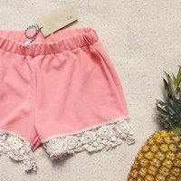 Sand & Lace Shorts