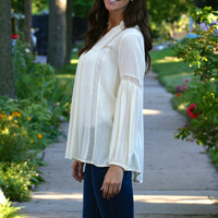 Pleated Peasant Blouse
