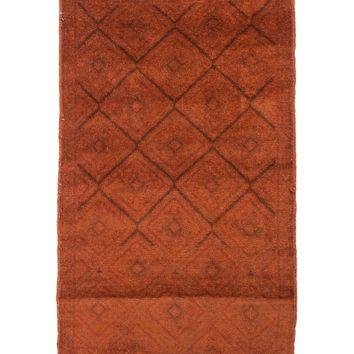 3x4 Overdyed Tribal Vintage Rug Copper Espresso 2617