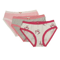 Esme Girl's Panty Packs 3pcs - Flamingo