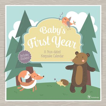 Baby's First Year Woodland Wall Calendar