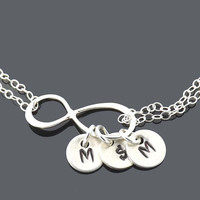 Personalized initial Infinity bracelet - Friendship bracelet - eternity, infinity - All sterling silver