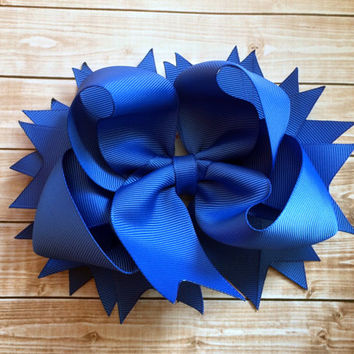 Stacked boutique hair bow, Girls hair bow, infants, toddlers, hairbow, hair accessory, stacked boutique hair bow