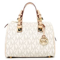 MICHAEL Michael Kors  Grayson Signature PVC Medium Satchel - Michael Kors