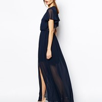 ASOS TALL Flutter Sleeve Maxi Dress