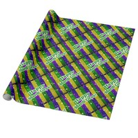 Happy Mardi Gras Poster Wrapping Paper