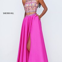 Two Piece Sleeveless Long Prom Dress by Sherri Hill