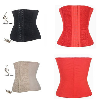 Women Steel Boned Underbust Sport Corset Elastic Waist Training Cincher S-6XL = 1958566148