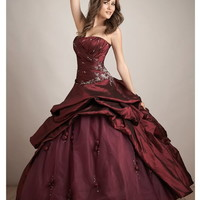 Ball Gown Taffeta Strapless Wedding Dresses Bridal Gowns Size 6 8 10 12 14 16