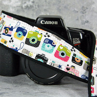 dSLR or SLR Camera Strap, Retro Cameras, Available in two lengths, Quick Release or Plain ends, 201 w