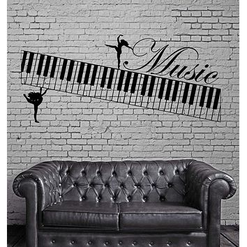 Music Wall Stickers Muse Piano Musical Instrument Vinyl Decal Unique Gift (ig2383)